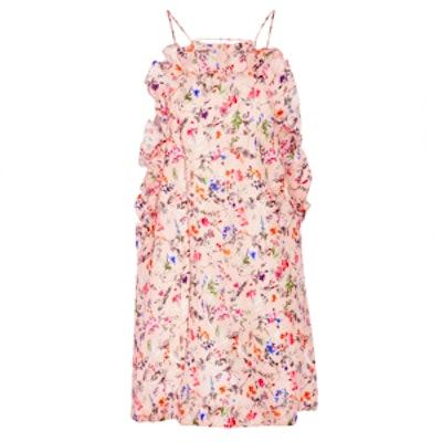Floral-Print Woven Silk Mini Dress