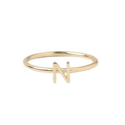 Letter N Ring