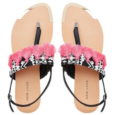 Hester Tassel Flat Sandals