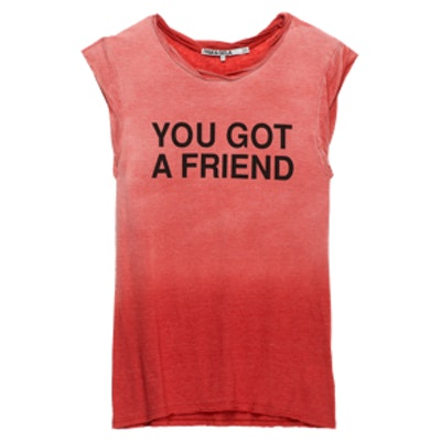 You Got A Friend Muscle Tee In Red