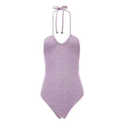 Pink Speckled Honolulu Halter Swimsuit