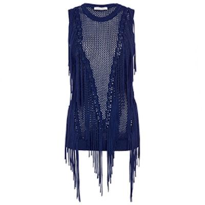 Sleeveless Fringe Knit Top