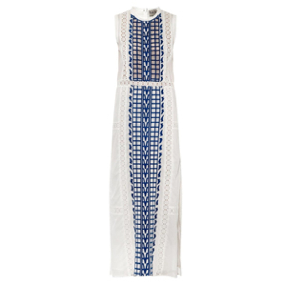 Embroidered Cotton-Voile Maxi Dress