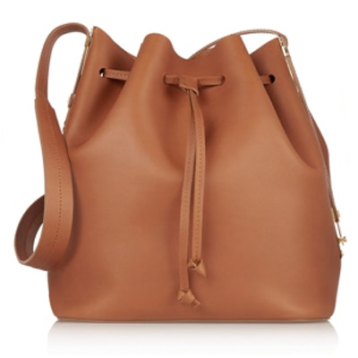 Matte-Leather Bucket Bag