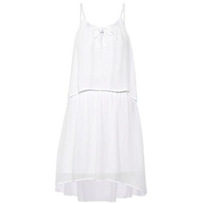 Crinkled-Voile Mini Dress