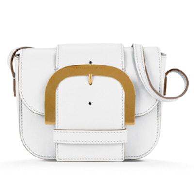 White Buckle Shoulder Bag