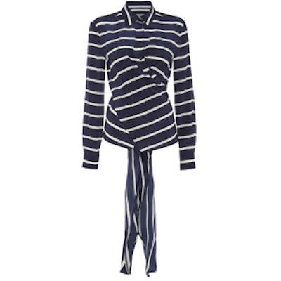 Tavo Tie-Back Silk Shirt