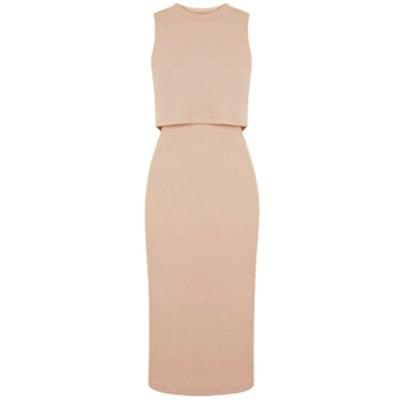 Sleeveless Cut-Out Midi Dress
