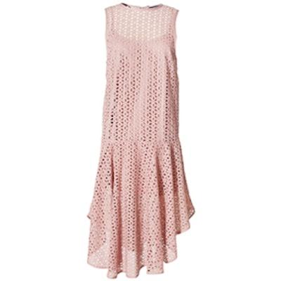 Hanae Eyelet Midi Dress