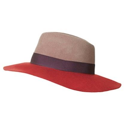 Colour-Block Fedora Hat