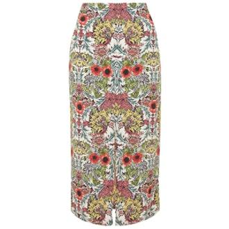 Garden Print Midi Skirt