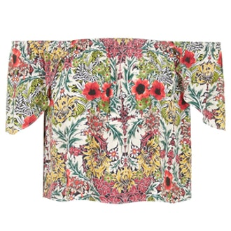 Poppy Garden Print Bardot Top