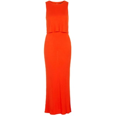 Sleeveless Overlay Maxi Dress