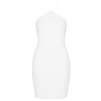 Triangle Halter Shift Dress