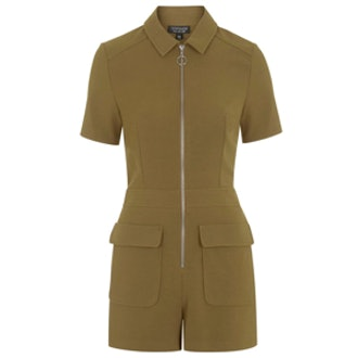 Zip Front Polo Playsuit
