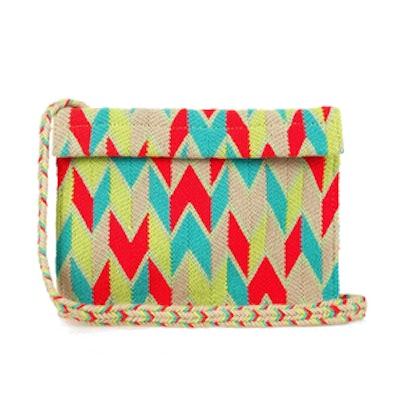 Woven-Cotton Cross-Body Bag