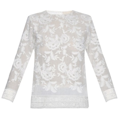 Dacun Embroidered Cotton Top