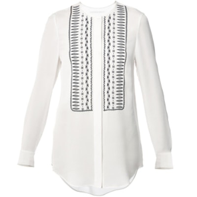The Ivory L/S Embroidered Tunic