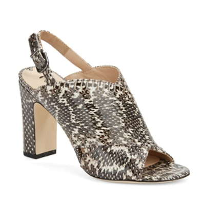 Amya Snakeskin Sandals