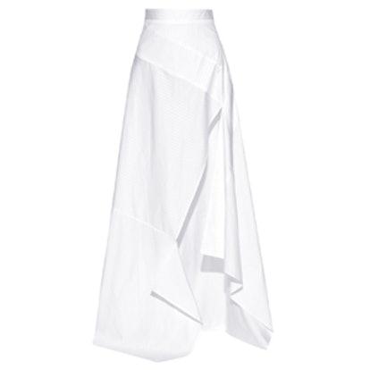 Split Striped Maxi Skirt