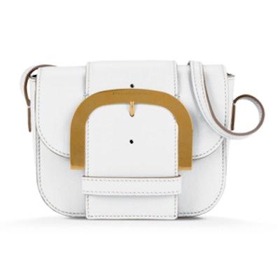 Pure-White Buckle Shoulder Bag