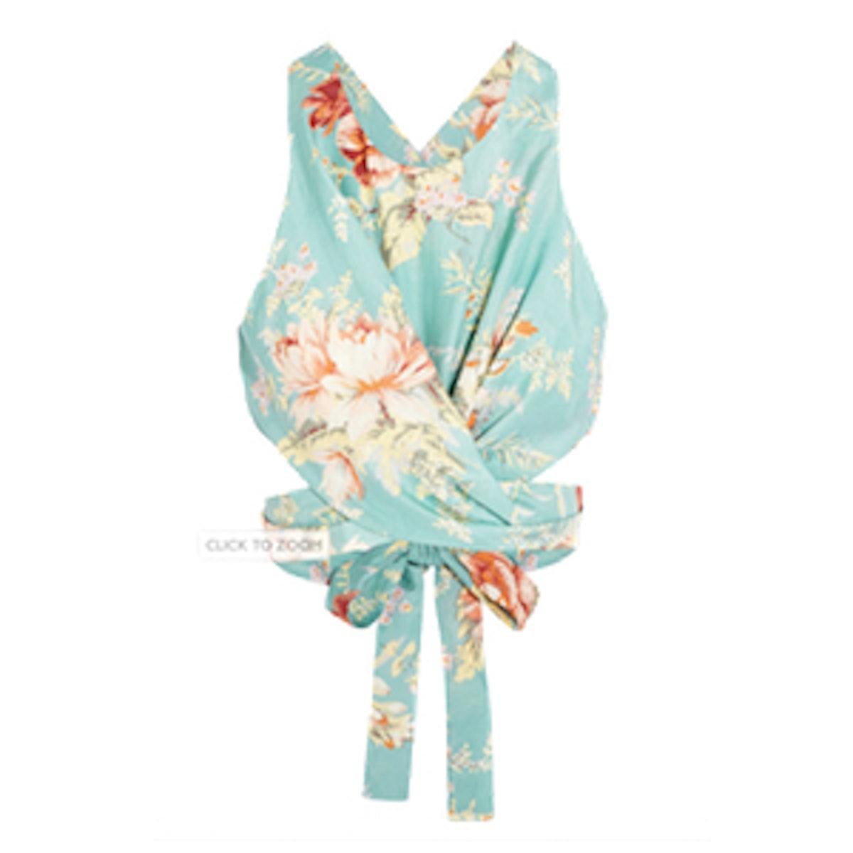 Anais Printed Wrap Top