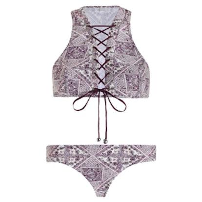 Ryker Lace Up Crop Bikini