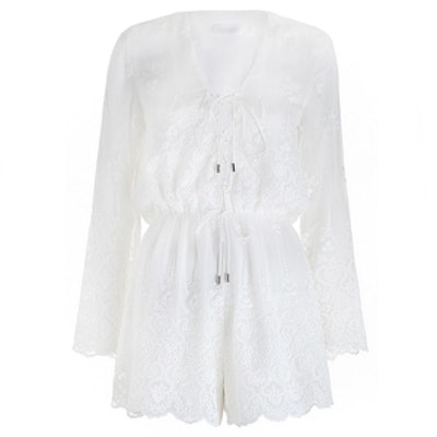 Lucia Silk Embroidery Playsuit