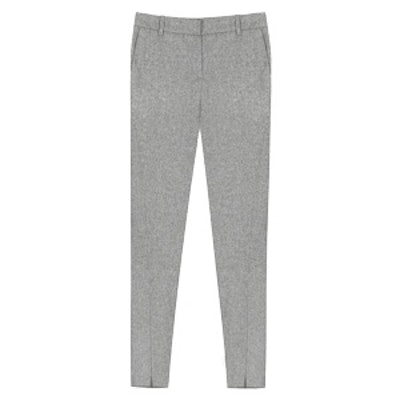 Textured Cropped Pants