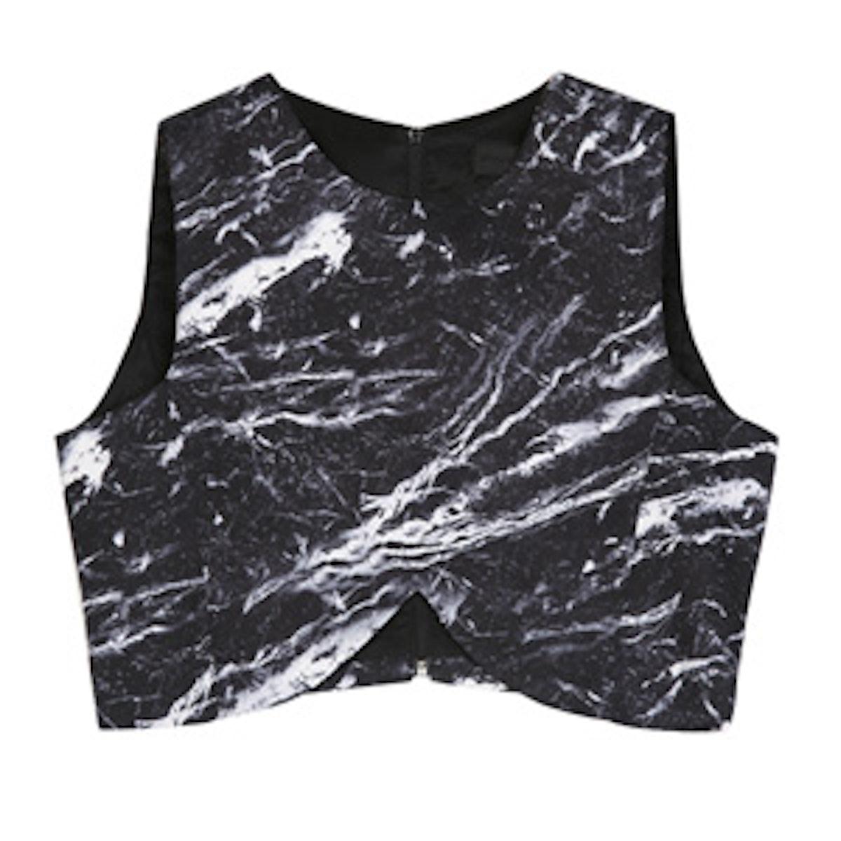 Marble Print Crop Top