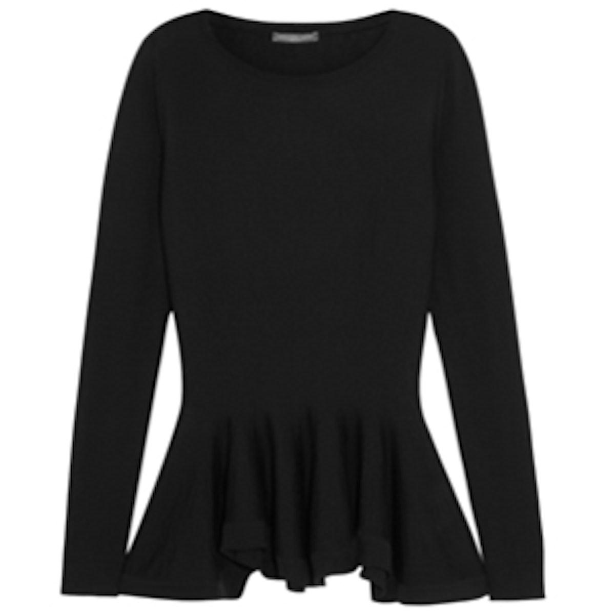 Merino Wool Peplum Sweater