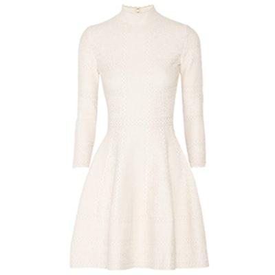 Stretch-Knit Jacquard Mini Dress