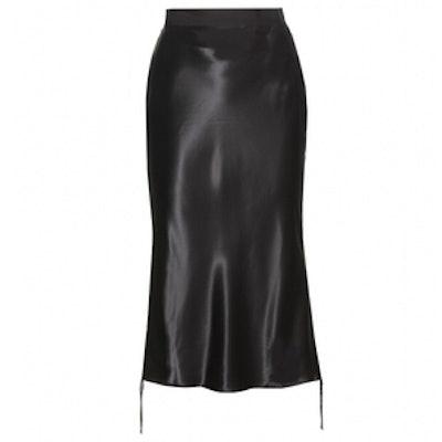 Satin Bias Cut Pencil Skirt