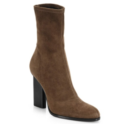 Gia Stretch-Suede Ankle Boots