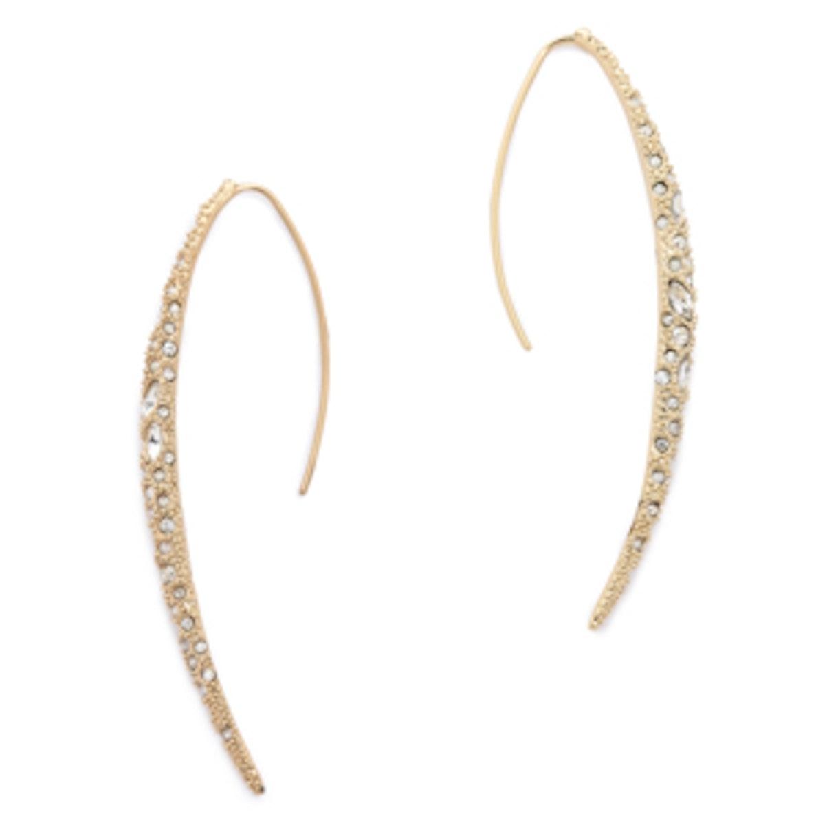 Encrusted Spear Earrings