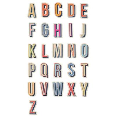 Alphabet Textured Stickers