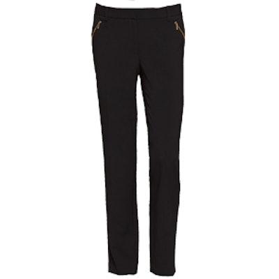 Slim Fit Zip Detail Pants