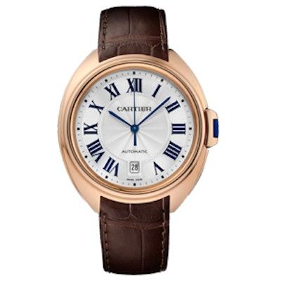 Cle De Cartier 18K Pink Gold Watch
