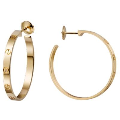 Yellow Gold Love Earrings