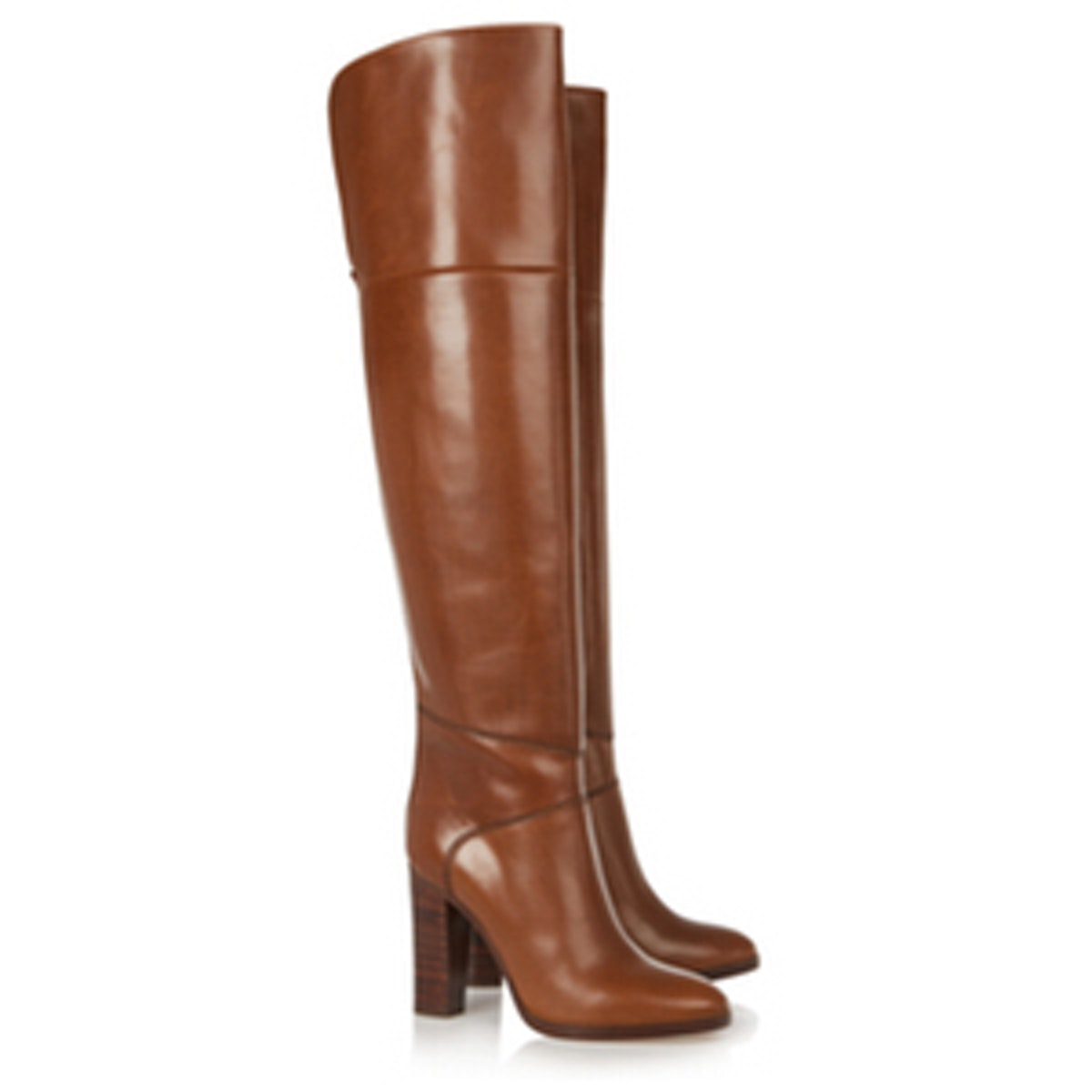 Glossed-leather Over-the-Knee Boots