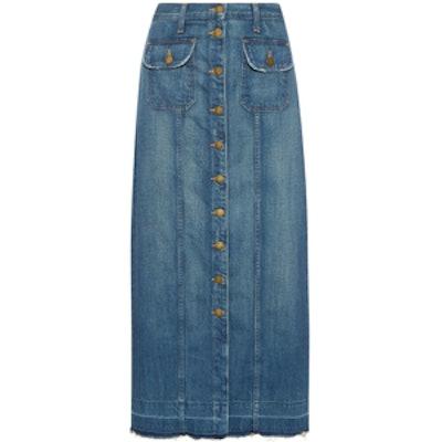 The Sally Denim Maxi Skirt