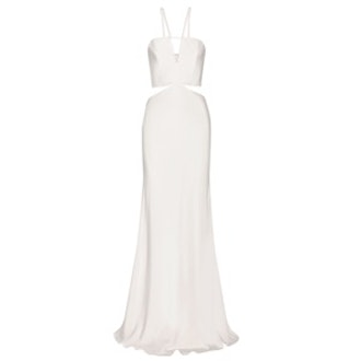 Cutout Silk Crepe Gown