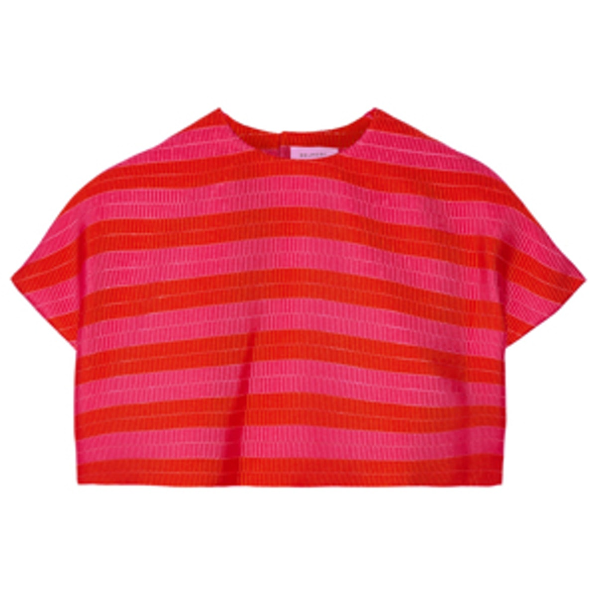 Cropped Striped Jacquard Top