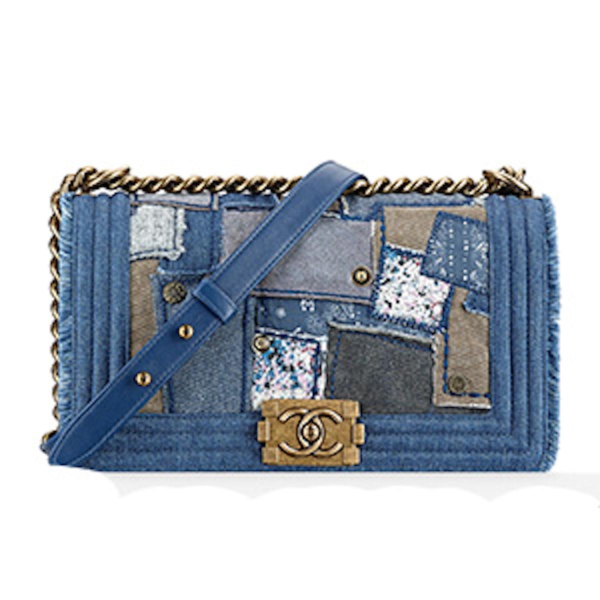 Denim Patchwork Bag