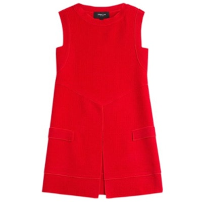 Slit-Front Sleeveless Knit Tunic