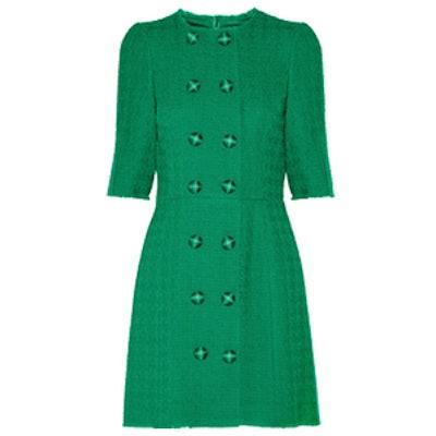 Wool-Blend Tweed Dress