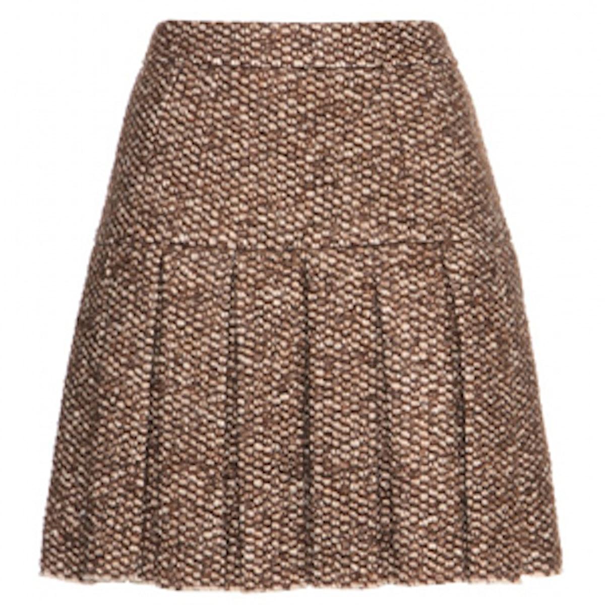 Tweed-Effect Knit Skirt