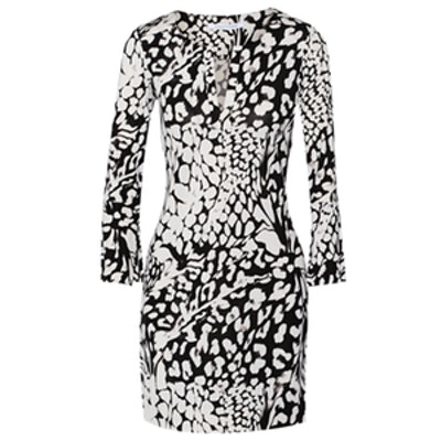 Reina Two Printed Silk-Jersey Dress