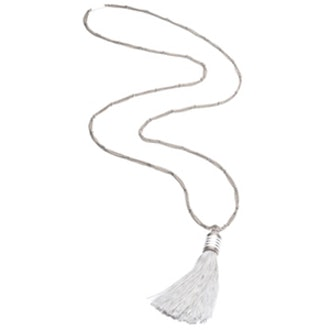 Enamel Pave Cone Tassel Necklace