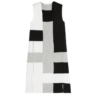 Cutout Color-Block Wool Tunic